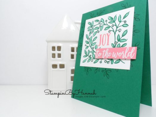 Fun Christmas Card using Stampin' Blends Alcohol markers and Feathers and Frost from Stampin' Up!