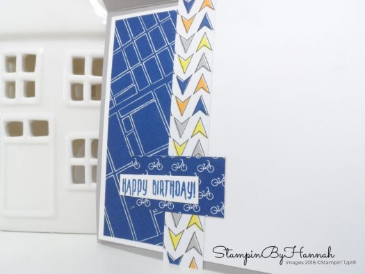 Inside a guys card using Best Route from Stampin' Up!