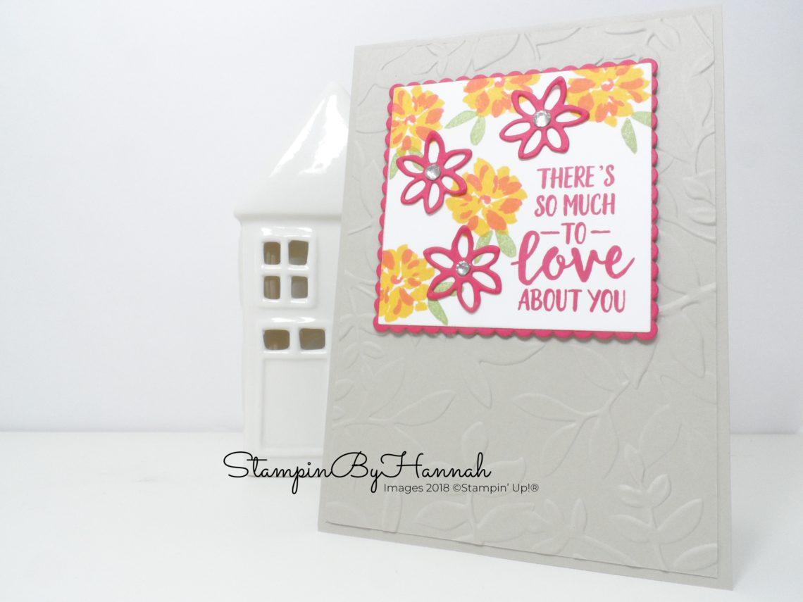 Fabulously Modern Floral Friendship Card using Abstract Impressions from Stampin' Up!