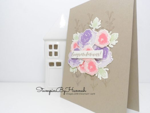 Layered Watercolour Floral Card using First Frost from Stampin' Up!