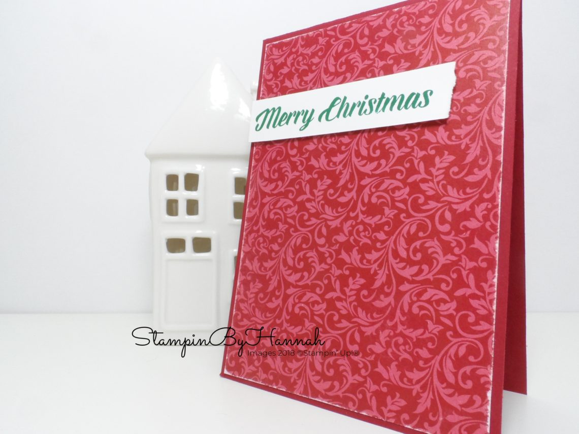 Simple Christmas Card using Designer Series Paper and Timeless Tidings from Stampin' Up!