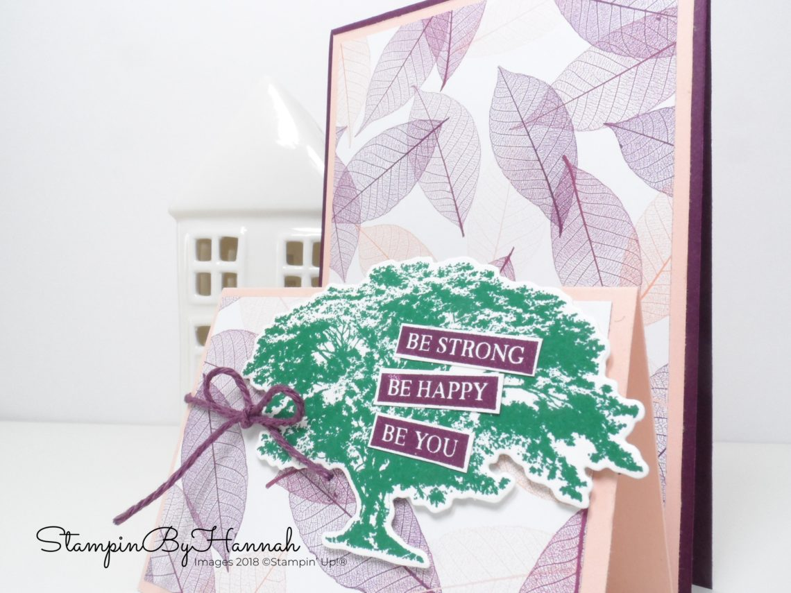 Double Tent Fold Card using Nature's Poem Designer Series Paper from Stampin' Up!