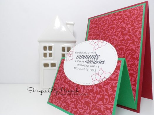 Dashing Along Double Tent Fold Card using Stampin' Up! Products Facebook Live Video