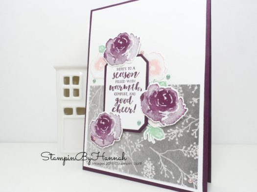 First Frost Christmas Card for the Pootlers Team Blog hop using Stampin' Up! products