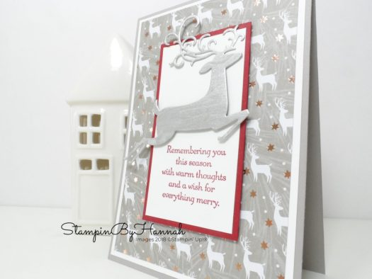 Super Shimmery Christmas Card using Dashing Deer from Stampin' Up!