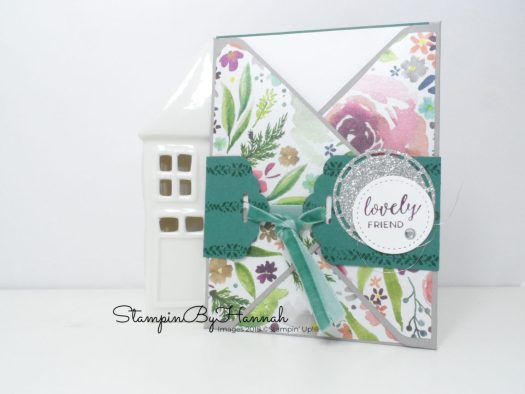 Frosted Floral Pocket card from Sam Roberts