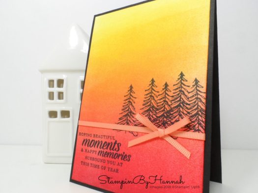 Ombre inking Christmas Card using Timeless Tidings from Stampin' Up!