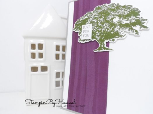 Quick and Simply Just for You Card with a tree using Rooted in Nature from Stampin' Up! with StampinByHannah