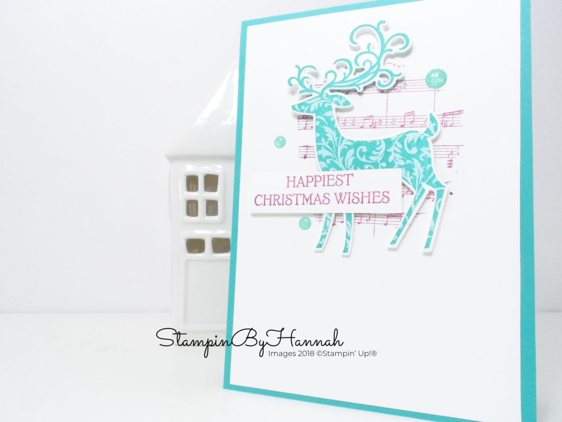 Musical Dashing Deer Christmas Card using Stampin' Up! products
