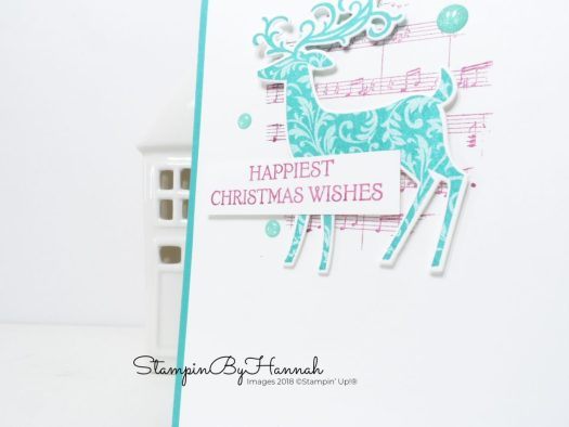Non-traditional Christmas Card using Dashing Deer from Stampin' Up!