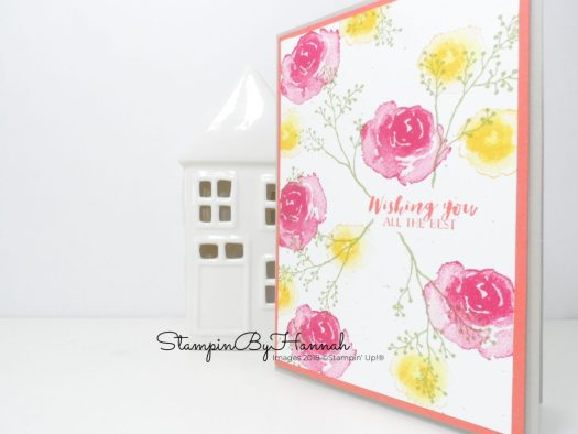 InspireCreateChallenge Best Wishes Floral Card Facebook Live using Stampin' Up! Products