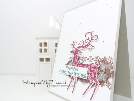 Clean and Simple Handmade Christmas Card using Dashing Deer from Stampin' Up!