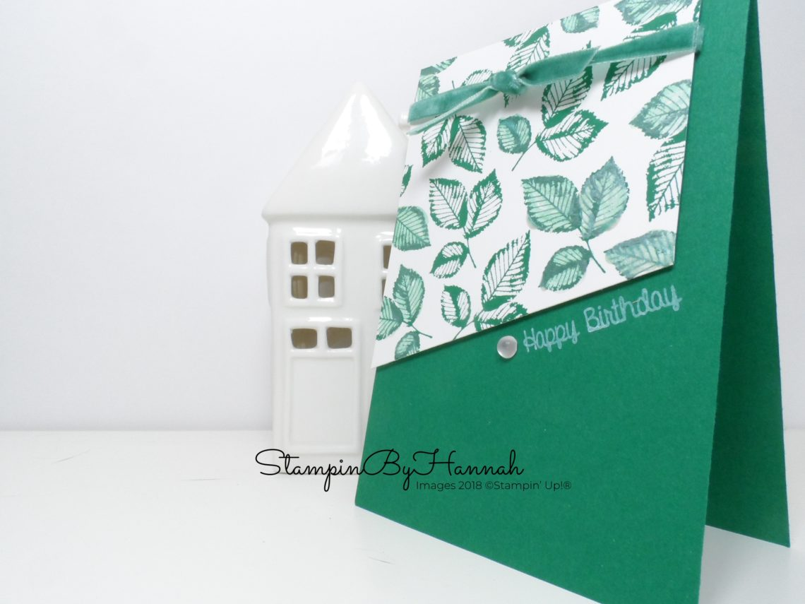 Hand Stamped Leaf Birthday Card using Rooted in Nature from Stampin' Up!