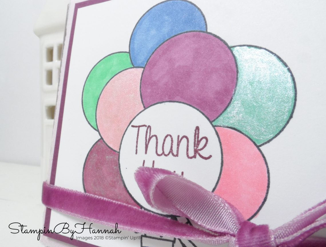 Fun Shimmery Party Favours using Mini Pizza Boxes from Stampin' Up!