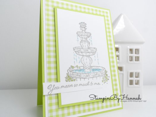 Quick and Easy card using Flowing Fountain from Stampin' Up! with StampinByHannah