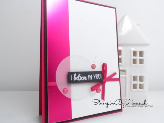 Encouragement Card using Lovely Lipstick Foil Paper FREE during Sale-a-bration from Stampin' Up! with StampinByHannah