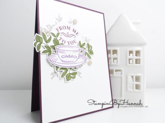 Mothers Day card using Time for Tea from Stampin' Up! with StampinByHannah
