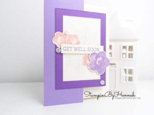Needlepoint Nook Double Fronted Card using Stampin' Up! products with StampinByHannah