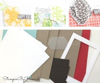 Painted Seasons Online Card Class Cardstock Pack from StampinByHannah