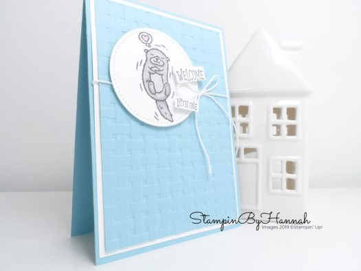 Hey Love Baby Boy card using Stampin' Up! supplies with StampinByHannha