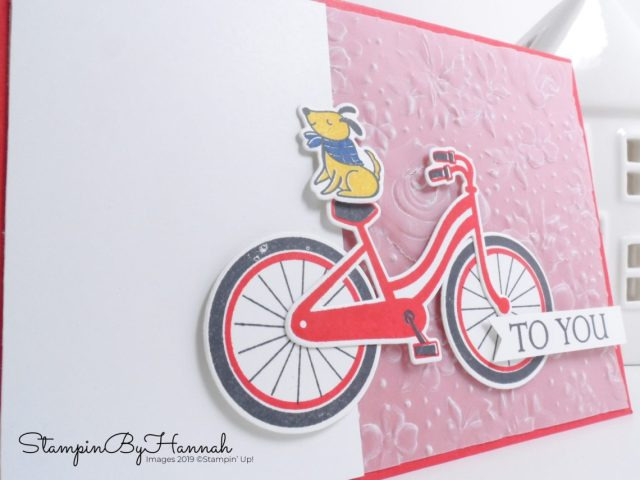 To you card using Bike Ride from Stampin' Up! with StampinByHannah