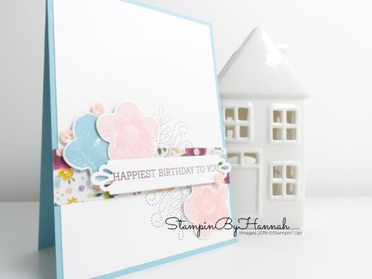 Happy Birthday with Needlepoint Nook from Stampin' Up! handmade card from StampinByHannah