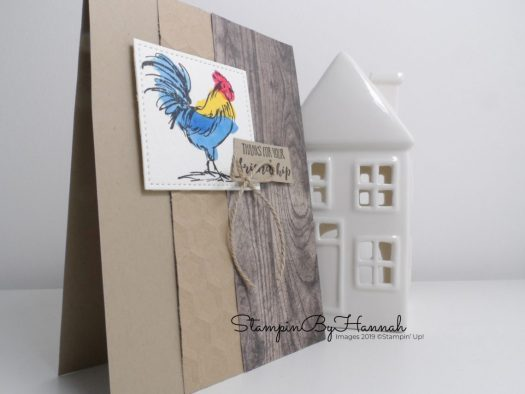 Home to Roost card using Sale-a-bration stamps from Stampin' Up! with StampinByHannah