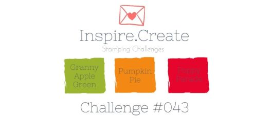 Inspire.Create.Challenge Colour Combination 043 Granny Apple Green Pumpkin Pie Poppy Parade