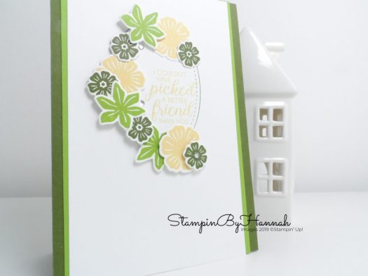 Pretty Friendship card using Beautiful Bouquet from Stampin' Up! with StampinByHannah