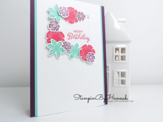 Fun Floral Birthday Card using Beautiful Bouquet from Stampin' Up! with StampinByHannah