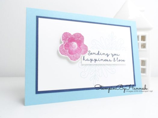 Quick and simple Just Because card using Needlepoint Nook from Stampin' Up! with StampinByHannah