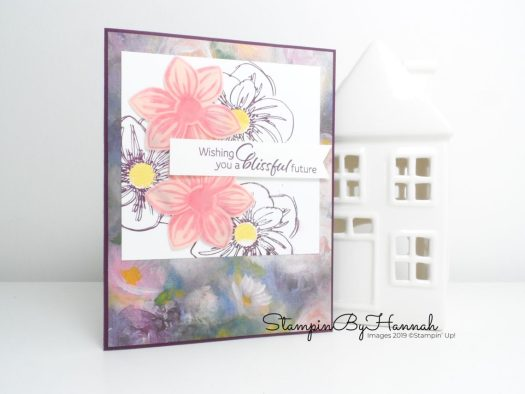 Pretty Floral Monet inspired card using Perennial Essence from Stampin' Up! with StampinByHannah