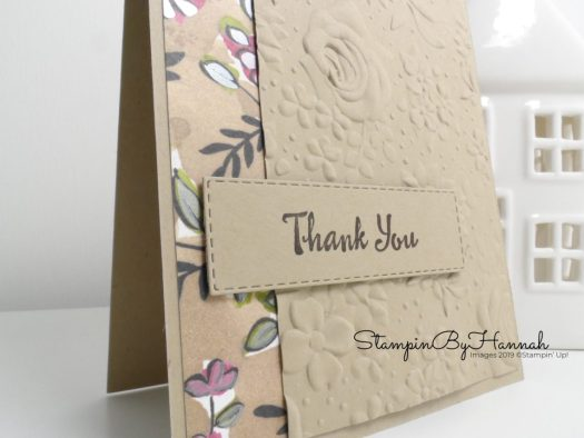 Cute Thank You card using Petal Palette from Stampin' Up! with StampinByHannah