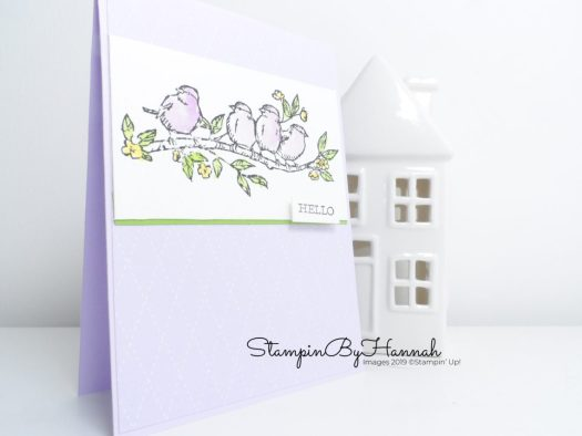 Free as a bird card using Stampin' Up! products with StampinByHannah