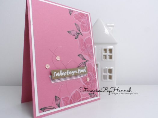 I'm here for you card using Stampin' Up! In Colours and Beautiful Promenade with StampinByHannah
