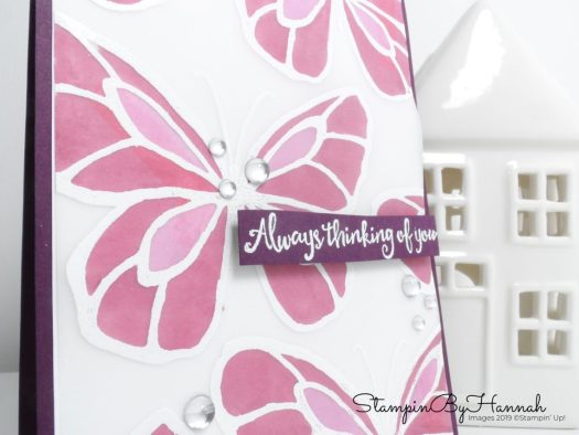 Thinking of you butterfly card using Beautiful Day from Stampin' Up! with StampinByHannah
