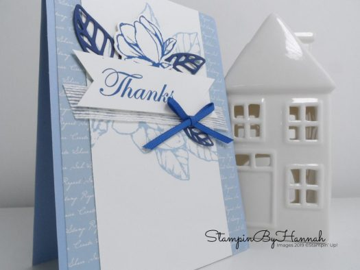 Thanks you card using Good Morning Magnolia from Stampin' Up! with StampinByHannah