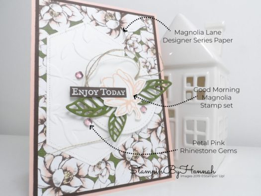 Create a layered Wedding card using Good Morning Magnolia from Stampin' Up! with StampinByHannah