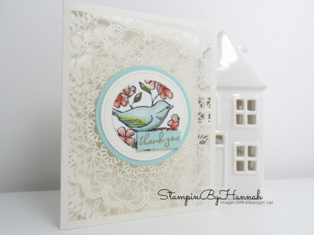 May Customer Thank you cards using Bird Ballard Note cards from Stampin' Up! with StampinByHannah