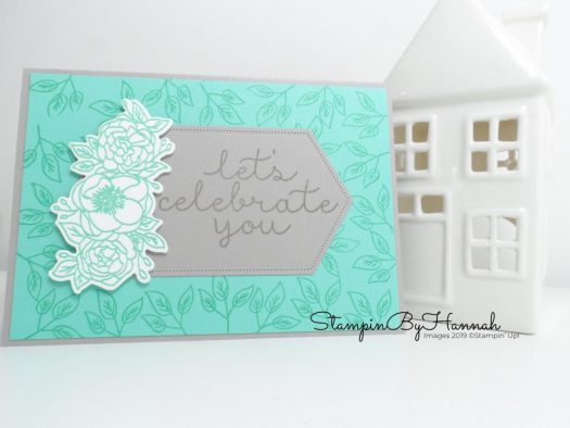 Bloom and Grow team card Lets Celebrate You with Stampin' Up! and StampinByHannah