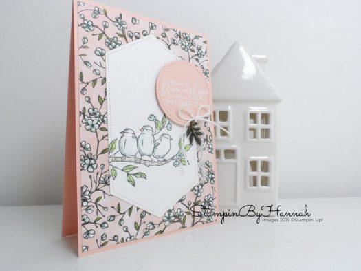 Free as a Bird Friendship card using Bird Ballard Designer Series paper from Stampin' Up! with StampinByHannah