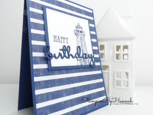 Male birthday card using Sailing Home from Stampin' Up! with StampinByHannah