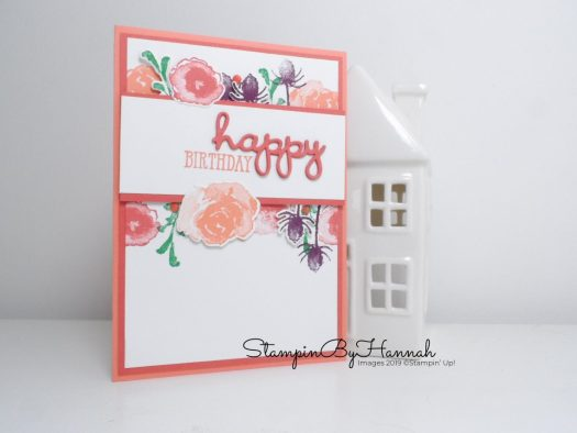 Birthday card using First Frost from Stampin' Up! with StampinByHannah