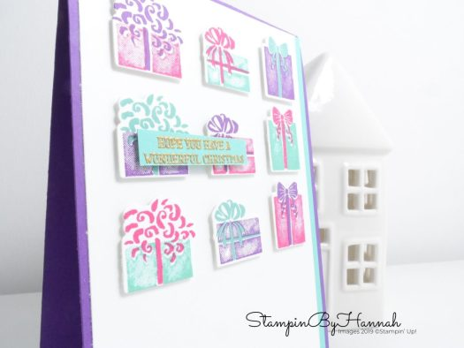 Christmas Present Card using Most Wonderful Time from Stampin' Up! with StampinByHannah