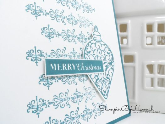 Merry Christmas Card using Christmas Gleaming from Stampin' Up! with StampinByHannah