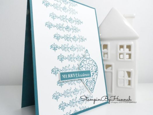 InspireINK Blog Hop Christmas is Gleaming Back to Basics Card using Stampin' Up! products with StampinByHannah