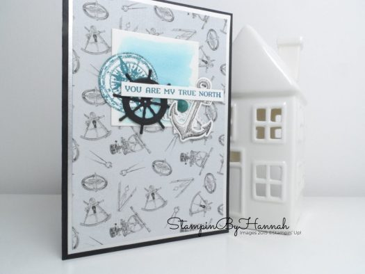 Anniversary Card using Sailing Home from Stampin' Up! with StampinByHannah
