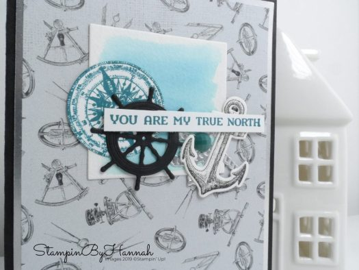 Pretty Peacock Come Sail Away card for a man's anniversary card using Stampin' Up! products with StampinByHannah