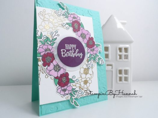 Happy Birthday Card using Bloom and Grow from Stampin' Up! with StampinByHannah