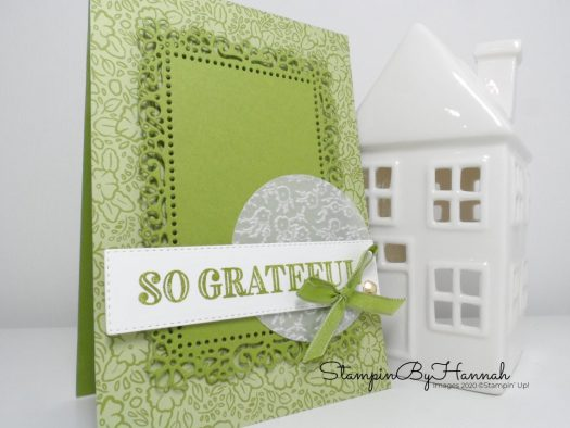 So Grateful card using Ornate Garden from Stampin' Up! with StampinByHannah
